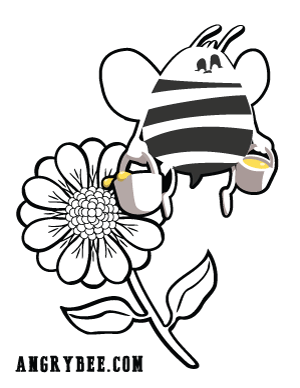 Angry Bee Coloring Page 2